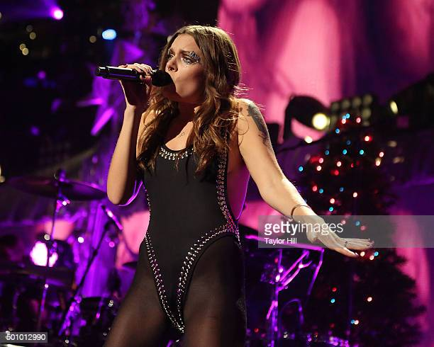 Tove Lo performs during the 2015 Z100 Jingle Ball at Madison Square Garden on December 11 2015 in New York City