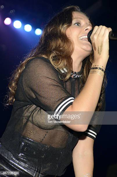 Tove Lo performs during the Perez Hilton's One Night in Austin showcase at the Austin Music Hall on March 21 2015 in Austin Texas