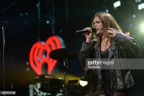 Tove Lo performs onstage during 933 FLZ's Jingle Ball 2015 Presented by Capital One at Amalie Arena on December 19 2015 in Tampa Bay Fla