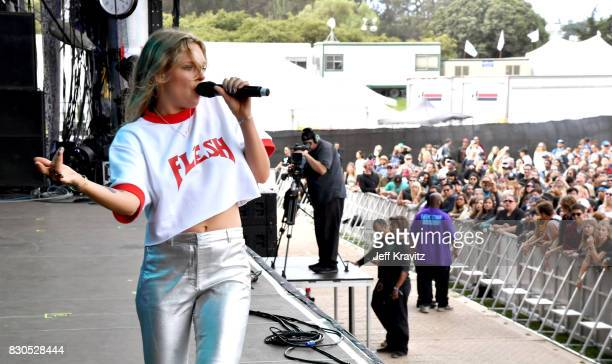 Tove Lo performs onstage during the 2017 Outside Lands Music And Arts Festival at Golden Gate Park on August 11 2017 in San Francisco California