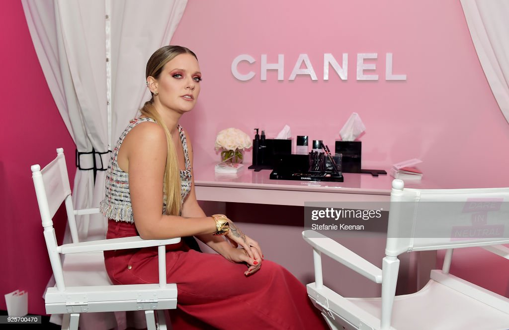 Tove Lo, wearing Chanel, attends a Chanel Party to Celebrate the Chanel Beauty House and @WELOVECOCO at Chanel Beauty House on February 28, 2018 in Los Angeles, California.