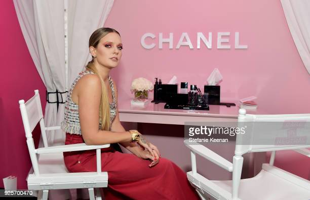 Tove Lo, wearing Chanel, attends a Chanel Party to Celebrate the Chanel Beauty House and @WELOVECOCO at Chanel Beauty House on February 28, 2018 in...
