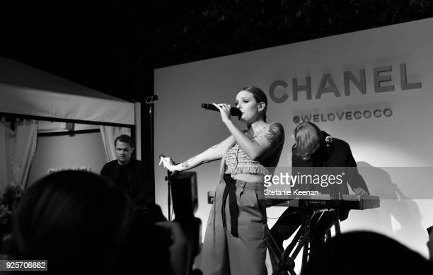 Tove Lo wearing Chanel performs onstage during a Chanel Party to Celebrate the Chanel Beauty House and @WELOVECOCO at Chanel Beauty House on February...