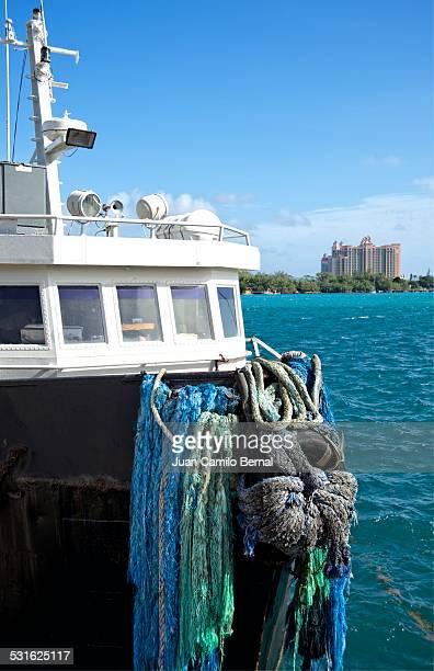Tow boat in Bahamas