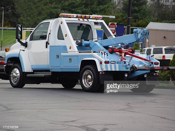 tow truck diagonal - tow truck stock photos and pictures