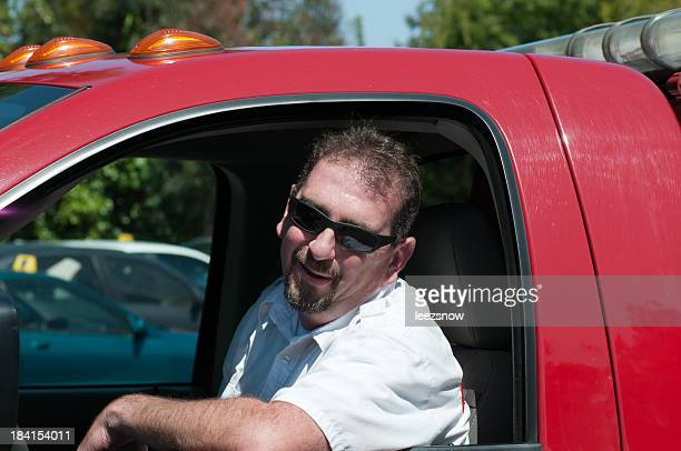 tow truck driver - tow truck stock photos and pictures