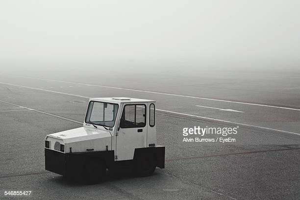 Tow Truck On Runway