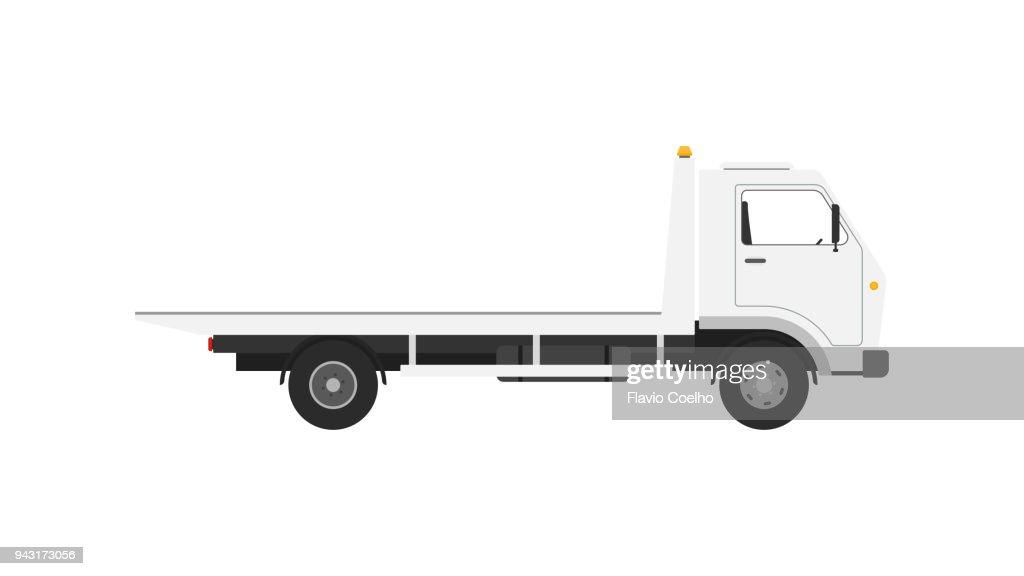 Tow truck on white background illustration : Stock Photo