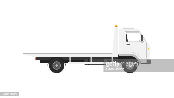 tow truck on white background illustration - tow truck stock pictures, royalty-free photos & images