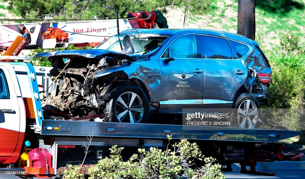 Golf-USPGA-Woods-accident : News Photo
