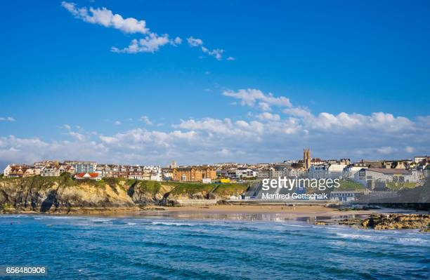 towan beach newquay - newquay stock pictures, royalty-free photos & images