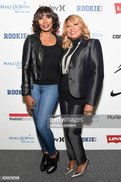 Towanda Braxton and Evelyn Braxton pose backstage at the Rookie USA fashion show during New York Fashion Week The Shows at Gallery 3 Skylight...