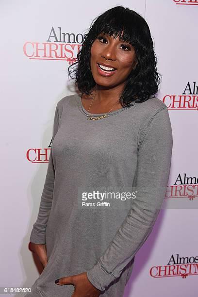 Towanda Braxton attends 'Almost Christmas' Atlanta screening at Regal Cinemas Atlantic Station Stadium 16 on October 26 2016 in Atlanta Georgia