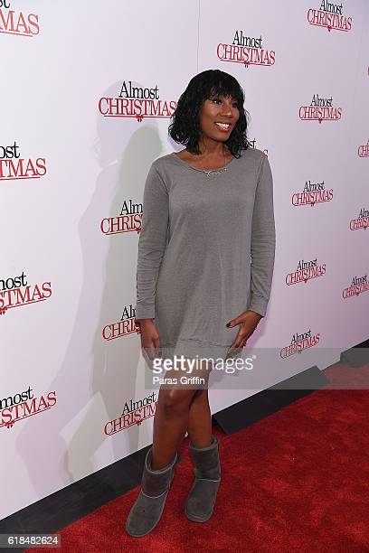 "Towanda Braxton attends ""Almost Christmas"" Atlanta screening at Regal Cinemas Atlantic Station Stadium 16 on October 26, 2016 in Atlanta, Georgia."