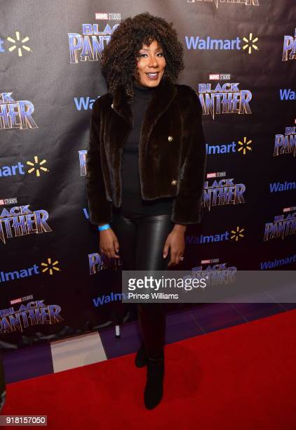 Towanda Braxton attends 'Black Panther' Advance Screening at Regal Hollywood on February 13 2018 in Chamblee Georgia