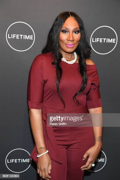 "Towanda Braxton attends ""Faith Under Fire: The Antoinette Tuff Story"" red carpet screening at Woodruff Arts Center on January 20, 2018 in Atlanta,..."
