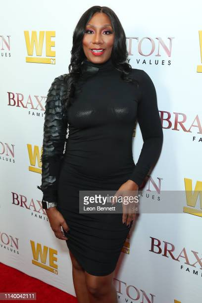 "Towanda Braxton attends WE tv's ""Braxton Family Values"" Season 6 Premiere at The Doheny Room on April 02, 2019 in West Hollywood, California."