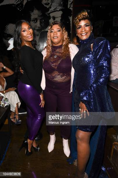 Towanda Braxton Debra Antney and Momma Dee attend WE tv Celebrates The Return Of Growing Up Hip Hop Atlanta at Club Tongue Groove on October 2 2018...