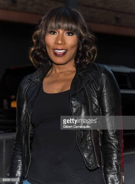 Towanda Braxton is seen arriving at the Rookie USA fashion show during New York Fashion Week: The Shows at Gallery 3, Skylight Clarkson Sq on...