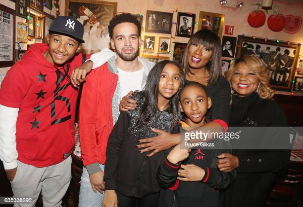 Towanda Braxton poses with her family as she promotes her WE television series Braxton Family Values at Buca di Beppo Times Square on February 14...