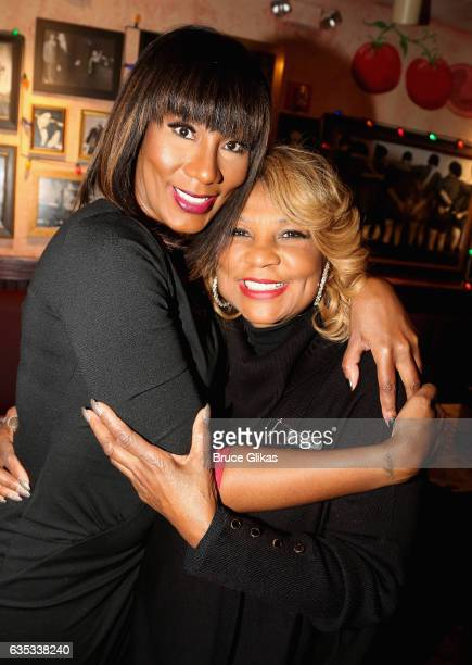 """Towanda Braxton poses with her mom Evelyn Braxton as she promotes her WE television series """"Braxton Family Values"""" at Buca di Beppo Times Square on..."""
