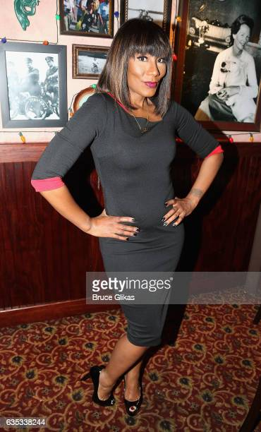 "Towanda Braxton promotes her WE television series ""Braxton Family Values"" as she visits Buca di Beppo Times Square on February 14, 2017 in New York..."