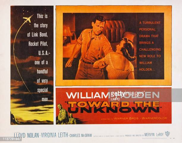 Toward The Unknown poster US lobbycard from left William Holden Virginia Leith 1956