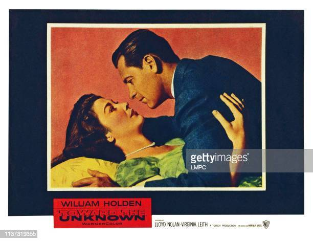 Toward The Unknown US lobbycard from left Virginia Leith William Holden 1956