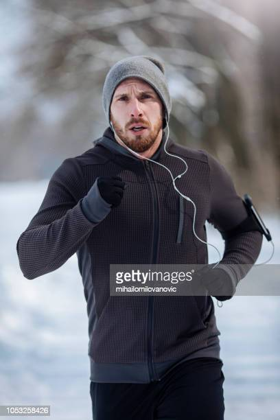 man determined to reach goal running