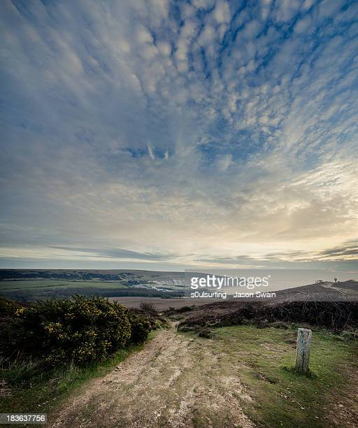 towards the needles - isle of wight stock photos and pictures