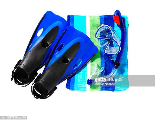 Towel and snorkelling equipment