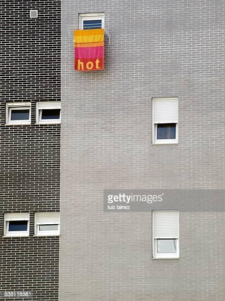 Towel on a facade