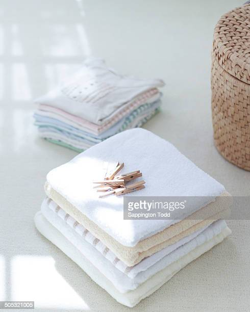 Towels And Clothespins