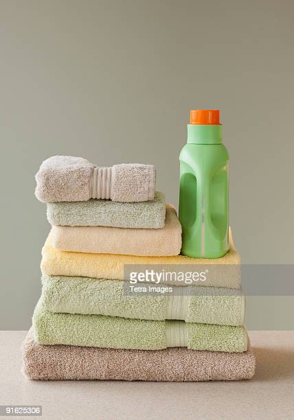 Towels and laundry detergent