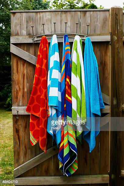 Towels Hanging on a Beach House Door