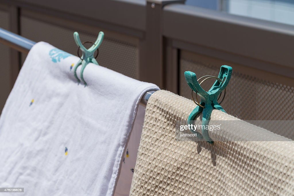 Towels Hung Out to Dry : Stock Photo
