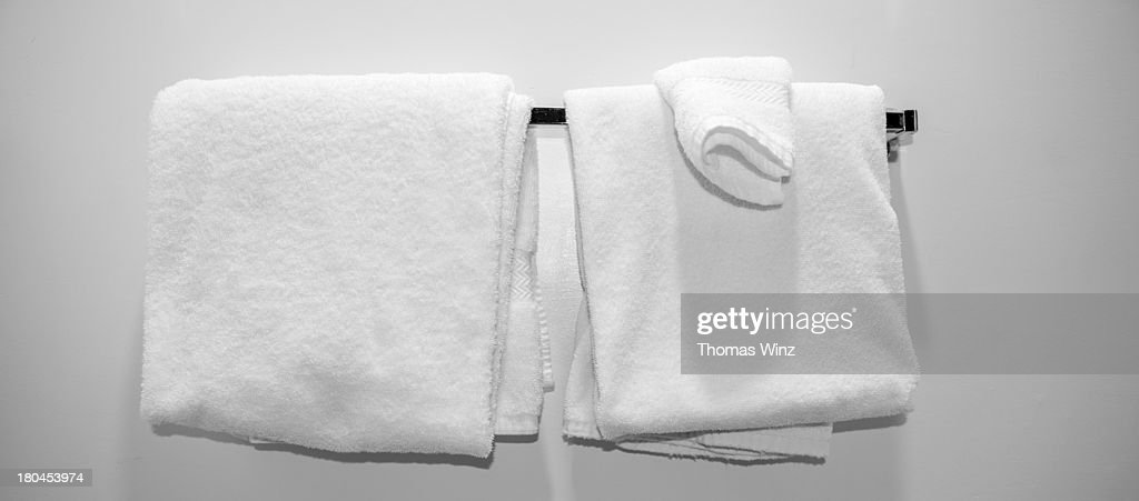 Towels in a Motel Room : Stock Photo