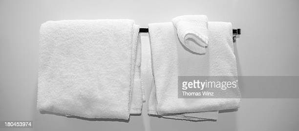 towels in a motel room - towel stock pictures, royalty-free photos & images