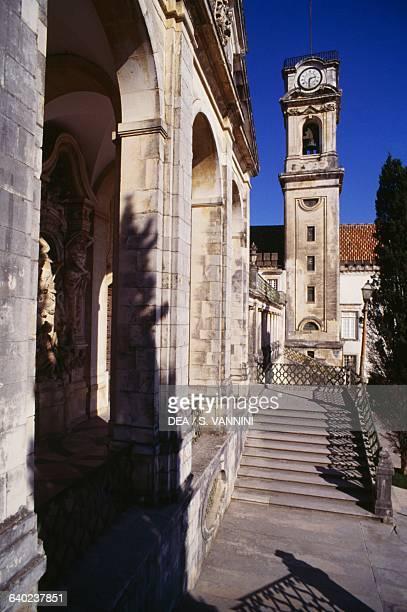 Tower 17281733 courtyard of the university building or Paco das Escolas Coimbra Centro Portugal 18th century