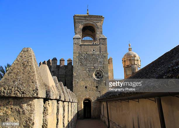 Tower and ramparts in the Alcazar fortress Cordoba Spain Alc‡zar de los Reyes Cristianos
