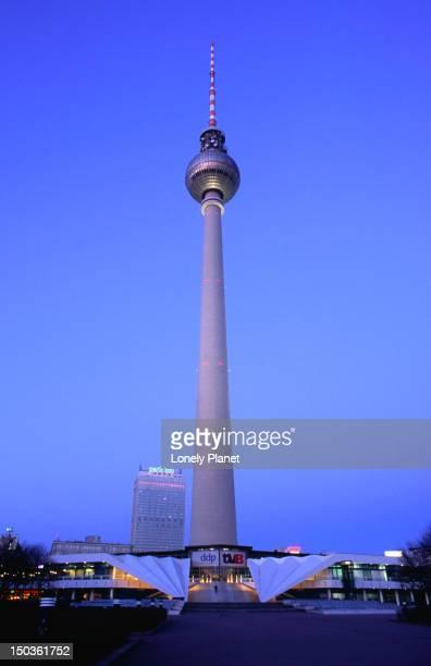 TV Tower at dusk, Alexanderplatz, Mitte.