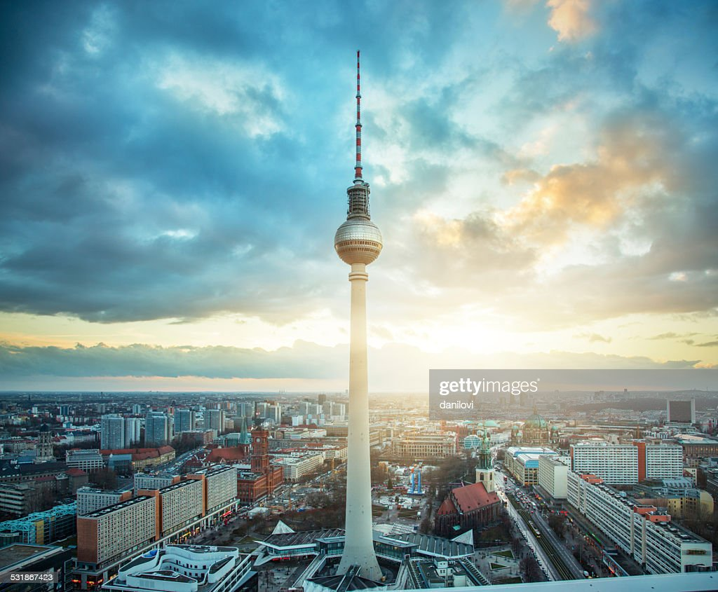 fernsehturm berlin tv tower stock photo getty images. Black Bedroom Furniture Sets. Home Design Ideas