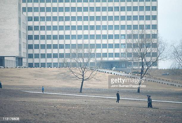 A tower block in North Korea February 1973