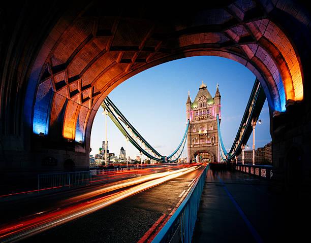 Tower Bridge And City Of London At Dusk Wall Art