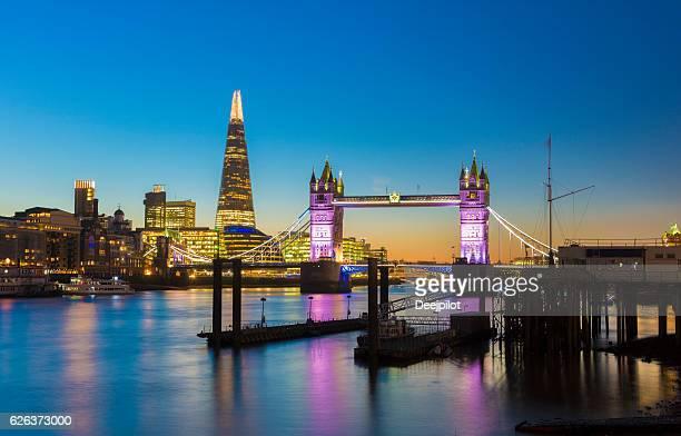 Tower Bridge and Shard on the London City Skyline