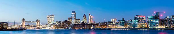 Tower Bridge and the London City Skyline Panorama