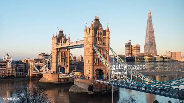 Tower Bridge and The Shard, London