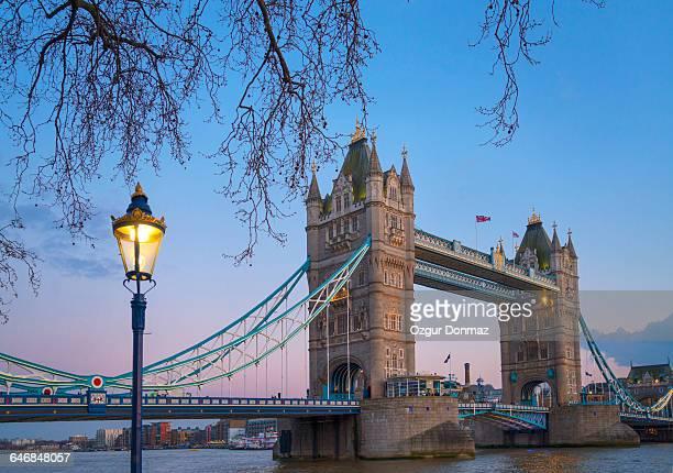 Tower Bridge at dawn, London, United Kingdom