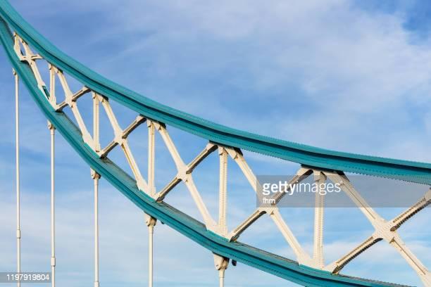 tower bridge detail (london, uk) - famous place stock pictures, royalty-free photos & images
