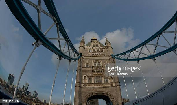 Tower Bridge in London England on January 20 2014